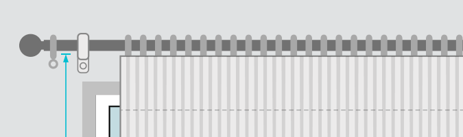 measure pencil pleat drop